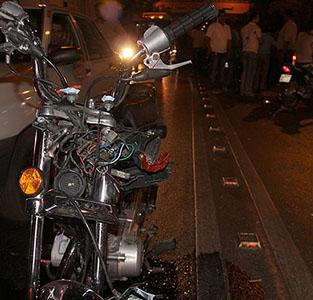 راکب موتور سیکلت در دهستان کتهسر جان باخت