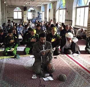 خمام - برگزاری مراسم زیارت عاشورا در آستان مقدس امامزاده حسن (ع) خمام