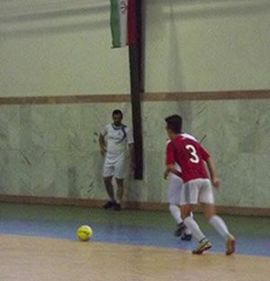خمام - برگزاری مسابقات فوتسال در سالن شهدا