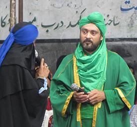 خمام - برگزاری مراسم تعزیه خوانی در راستهکنار