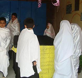 خمام - از طواف نمادین کعبه تا خواندن دعای عرفه و مسابقه نقاشی در سردار جنگل و خاتم
