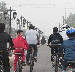 خمام - همایش دوچرخه سواری در خمام برگزار شد