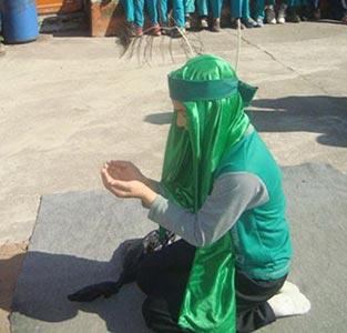 خمام - برگزاری مراسم تعزیه خوانی در مجتمع سردار جنگل و خاتم (ص)
