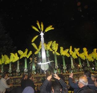 خمام - حضور دستههای عزاداری خمام در مراسم علمبران هیئتهای مذهبی شهرستان شفت