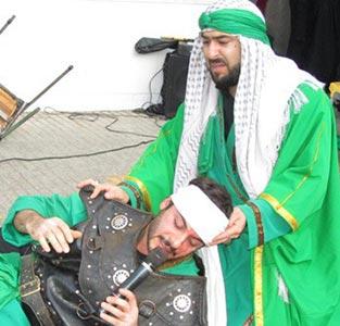 برگزاری مراسم تعزیه خوانی در دبستان یاس نو