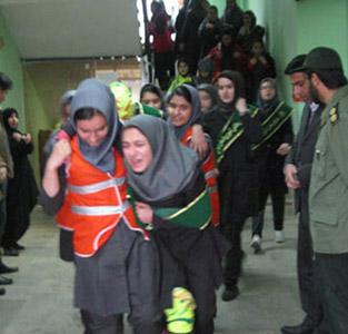 خمام - برگزاری مانور زلزله در مدارس بخش خمام