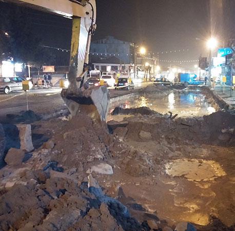 خمام - اجرای طرح تعریض خیابان امام خمینی (ره)