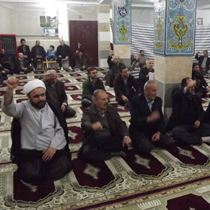 خمام - محکومیت توهین به پیامبر (ص) توسط نمازگزاران در مسجد سید الشهدا (ع)