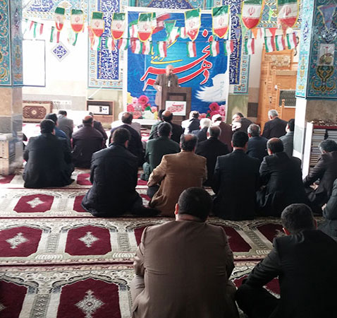 خمام - برگزاری جشن انقلاب در مسجد سیدالشهدا (ع)
