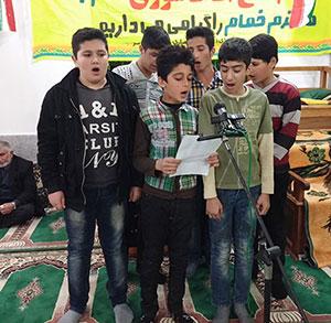 خمام - برگزاری جشن انقلاب در مسجد آقا سید اسماعیل کتهسر