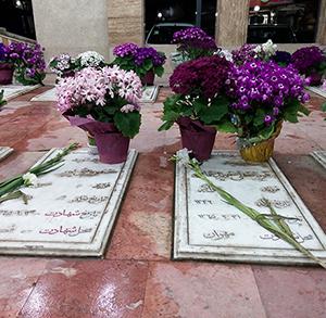 تصویر / مزار شهدای خمام در نوروز 1394