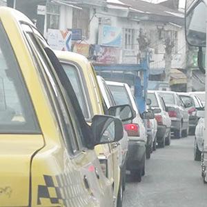 خمام - افزایش ترافیک در خیابان اصلی، توقفگاه خودروها