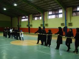 خمام - برگزاری مسابقه طنابکشی بانوان در سالن تختی