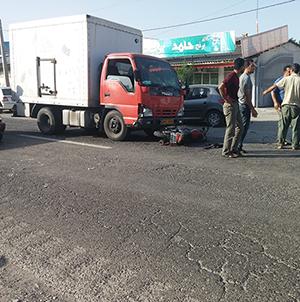 خمام - تصادف موتورسیکلت با کامیون 2 مجروح بر جای گذاشت