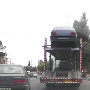 ورود خودروهای سنگین به مرکز شهر !
