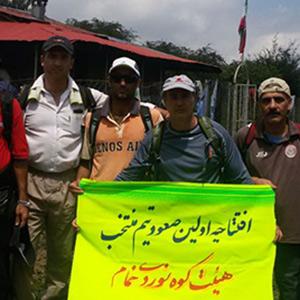 خمام - تیم منتخب کوهنوردان به قله شلمبجار صعود کرد