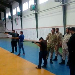 برگزاری مسابقات تیراندازی در سالن شهدا