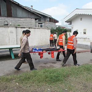 خمام - برگزاری مانور امداد و نجات در مدرسه امام حسین (ع)