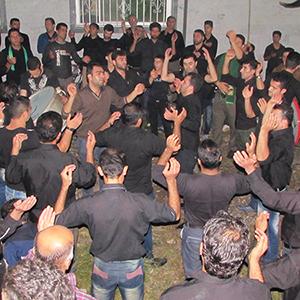 مراسم عزاداری در مسجد آقا دو برادران برمچه