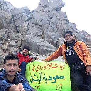 صعود 3 تن از کوهنوردان خمامی به کوه الوند