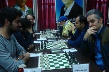 خمام - صدرنشینی شهرداری خمام در هفته دوم از لیگ برتر شطرنج گیلان