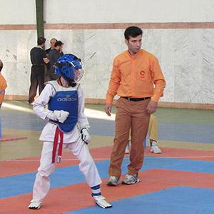 مسابقات استانی تکواندو در خمام برگزار شد