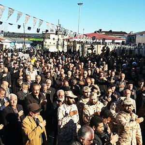 خمام - تجمع بزرگ «لبیک یا رسولالله» در مسجد جامع برگزار شد