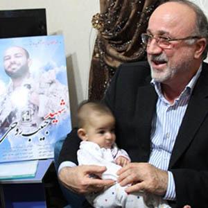 دیدار استاندار گیلان با خانواده شهید حبیب روحی