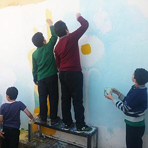 خمام - برگزاری مسابقهی نقاشی دیواری و جشنوارهی غذا در مدارس بخش خمام