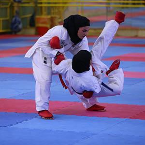 درخشش بانوان کاراتهکا خمامی در مسابقات استانی