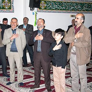 خمام - مراسم عزاداری در مسجد سیدالشهدا (ع) برگزار شد