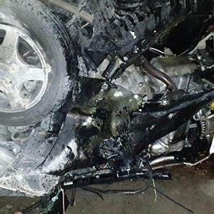3 مجروح در تصادف پژو 206 با هیوندای سانتافه