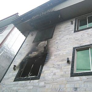 مهار آتشسوزی یک واحد آپارتمان مسکونی