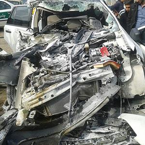 2 کشته و 1 مجروح در سانحه تصادف فورد با تریلی