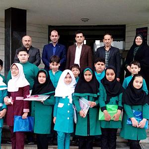 خمام - دیدار دانشآموزان مجتمع سردار جنگل و خاتم (ص) با شهردار خمام