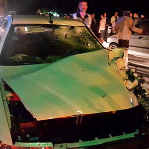 1 کشته و 1 مجروح در سانحه تصادف خودروی سمند با موتورسیکلت