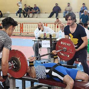 خمام - مسابقات قهرمانی پرس سینه استان گیلان در سالن تختی خمام برگزار شد