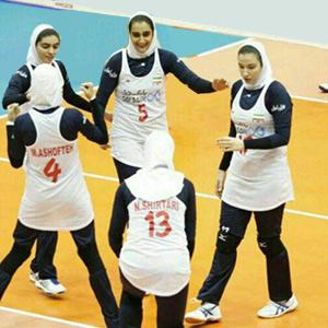خمام - حضور سوگند حقپرست در مسابقات والیبال قهرمانی آسیا