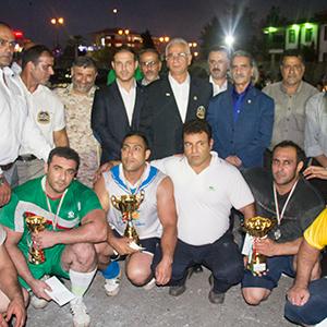 خمام - دومین دوره از مسابقات فرا استانی قویترین مردان «جام زندهیاد تقینژاد» برگزار شد