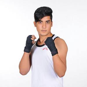 خمام - نائب قهرمانی امیرمحمد فیضی در رقابتهای کشوری کیک بوکسینگ