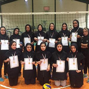 خمام - قهرمانی تیم والیبال بانوان خمام در مسابقات کاپ آزاد