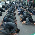 نماز ظهر عاشورا در خیابان بوعلی اقامه شد