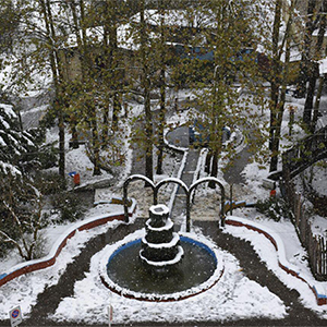 خمام - تصاویری از نخستین برف پاییزی ۹۵