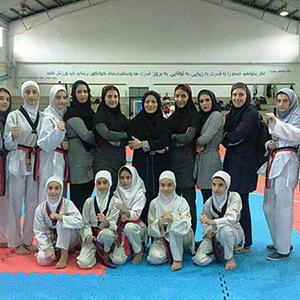 خمام - درخشش تیم رسپینا خمام در مسابقات لیگ تکواندوی بانوان استان گیلان