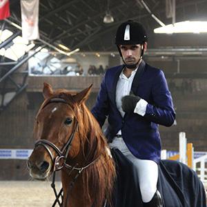 خمام - کسب مقام چهارم سوارکار خمامی در مسابقه اسبهای اصیل ایرانی