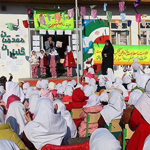 خمام - برگزاری جشن میلاد امام حسن عسکری (ع) در دبستان شهید صادقی ۲