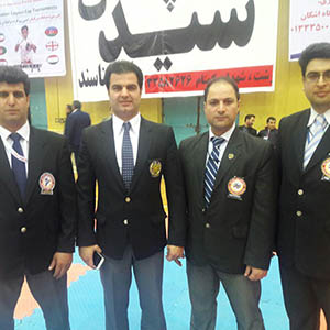 خمام - قضاوت ۴ داور خمامی در مسابقات بینالمللی کاراته سبک اوکیناوا ایشین ریو