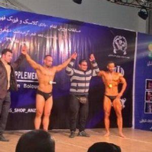 خمام - قهرمانی ایمان موقری در مسابقات پرورش اندام غرب گیلان