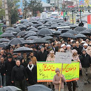 خمام - حضور پرشور مردم خمام در راهپیمایی ۲۲ بهمن