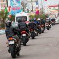 رژه موتورسواران به مناسبت ایام دههی فجر برگزار شد